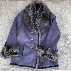 Novelti Faux Suede Winter Jacket
